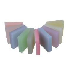 10 Pcs Tembus Crystal Jelly Karet Bata Diukir Karet Ubin-Internasional