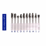 Jual 10 Pcs Tungsten Steel Hard Baja Kecepatan Tinggi Rotary File Electric Grinding Aksesoris Atau Dremel Rotary Burr Tool Set Cnc Ukiran Not Specified Branded
