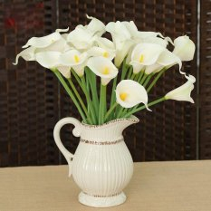 Rp 213.000 10 Pcs Pernikahan Bunga Lateks Nyata Touch Sutra Calla Lily . e942335faa