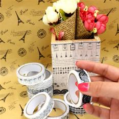 10 Gulungan 1.5 Cm X 10 M DIY Lem Perekat Stiker Dekoratif Plester Plastik-Intl