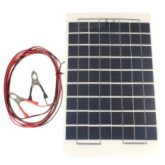 10W Watt 12V Cell Solar Panel Module Battery Charger RV Boat Camping 4M Cable - intl