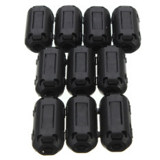 Toko Jual 10 X Hitam Kawat Penjepit Kabel Klip Rfi Emi Emc Filter Kebisingan Cincin Ferit Inti Wadah 3 5Mm