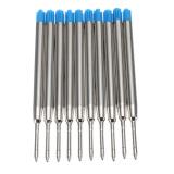Review Pada 10X Blue Ballpoint Pen Refills Fine Point Medium Standar Untuk Parker Style Ink Intl