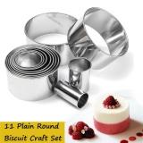 Beli 11X Stainless Steel Round Lingkaran Cookie Biscuit Cutter Pasta Kue Fondant Mould Intl Kredit