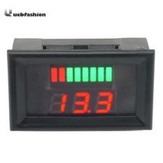 12-60V Lead Acid Battery Capacity LED Indicator Digital Voltmeter Tester - intl