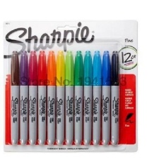 Model 12 Warna American Sanford Sharpie Spidol Permanen S Ramah Lingkungan Spidol Sharpie Fine Point Spidol Permanen Intl Terbaru