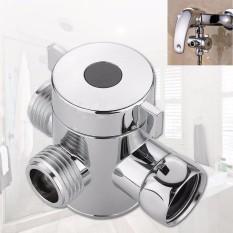 1/2 Inci Tiga Cara T-Adaptor Katup Untuk Toilet Bidet Kepala Pancuran Diverter-Internasional By Sophiadeals.