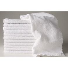12 Baru Putih 22X44 100% Katun Terry Bath/Salon 6.15 # Lusin Handuk Olahraga Yang Tidak Terpakai-Intl
