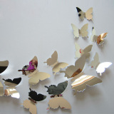 Harga Termurah 12 Buah These Butterflies Pvc 3D Wall Sticker Dekorasi Rumah Natal Diseduh Sendiri Reflektif Cermin Dinding Art Set Internasional