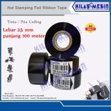 Harga 12 Pcs Ribbon Tape 25Mm X 100M Lc1 Hitam Pita Coding Tinta Cetak Expired Date China