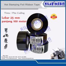 Jual Beli 12 Pcs Ribbon Tape 25Mm X 100M Lc1 Hitam Pita Coding Tinta Cetak Expired Date Banten