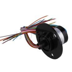 Ulasan Mengenai 12 Kabel 2A Kapsul Slip Ring 250 Rpm 2 2 Cm Hitam