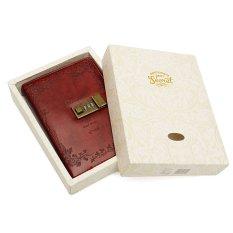 120 Lembar B6 Red Rose Leather Diary Jurnal Buku Catatan dengan Kombinasi Kunci-Internasional