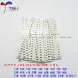 Harga 1206 Smd Resistor Paket 15 K 220 K 5 Total 25 Jenis Masing Masing 20 Intl New