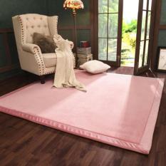 120x200 Cm Jepang Tatami Lantai Carpet Thicken Lembut Karpet untuk Kamar Tidur Ruang Tamu Anak-anak Merangkak Bantal Meja Teh Sofa Mats (Pink) -Intl