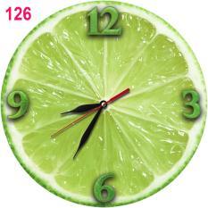 Jual 126 Natural Jam Dinding Unik Bahan Mdf Motif Jeruk