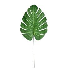 12 P Tropical Single Besar Daun Buatan Plastik Sutra Fake Daun Dekorasi Rumah-Internasional