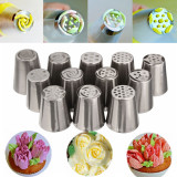 Review 12 Pc Baru Cake Decorating Bahasa Rusia Bunga Tulip Icing Piping Nozel Pastry Tips Indonesia