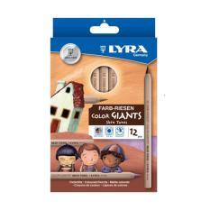 12pcs Lyra Color Giants Skin Tones Pensil Warna Kulit Gambar Lukis Design Sketsa