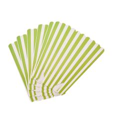 12 Pcs Multi Stripe Kertas Popcorn Kotak Ulang Tahun Pesta Pernikahan Favor Manis Tas Hijau-Internasional