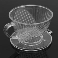 Diskon 1 2 Pcs Plastik Clear Coffee Filter Cup Cone Drip Dripper Maker Brewer Dudukan Baru Internasional