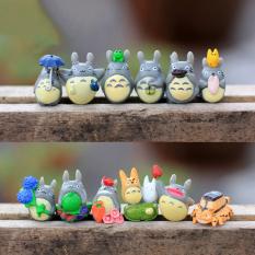 Ongkos Kirim 12 Buah Set Tetanggaku Totoro Mini Gambar Lumut Dibetulkan Hadiah Mainan Multi Alam Mikro Di Tiongkok