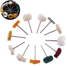 12 Pcs/set 2.35mm Shank Wol Brush Polishing Roda Kit dengan Scouring Pad/