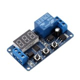 Jual 12 V Led Display Otomasi Digital Delay Timer Control Switch Relay Modul Internasional Online Di Tiongkok