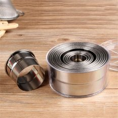 Toko 12X Set Round Stainless Steel Kue Biskuit Adonan Kue Cetakan Cutter Alat Membuat Kue Internasional Not Specified