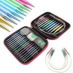 Beli 13 Ukuran Set Interchangeable Aluminium Knitting Needle Set 2 75Mm 10Mm Intl Murah Di Tiongkok