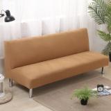 Harga 135 185 Cm Padat Warna Elastis Lipat Sofa Bed Cover No Handrail Sofa Slipcovers Paling Murah