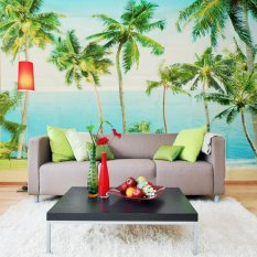 135x95 Inch 3D Wallpaper Kamar Tidur Mural Modern Pohon Alam TV Latar Belakang Dinding-Intl