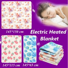 145*115cm Electric Heated Blanket Polyester Floral Printed Bedroom Blankets - intl
