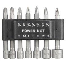 Beli 14 Pcs Power Nut Driver Drill Set Sae 1 4 16 Cm Shank Hex Metrik Socket Wrench Sekrup Internasional Not Specified Asli