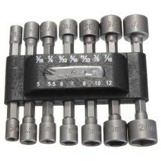 Penawaran Istimewa 14X Power Nut Driver Drill Bit Set Sae Metrik Kunci Socket Sekrup 1 4 16 Cm Shank Hex Terbaru