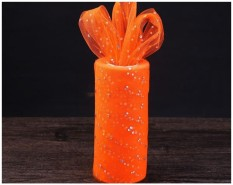 15 Cm * 25 Yards Tulle Tutu Trim Pernikahan Bridal Decor DIY Kerajinan Dekorasi DIY Pembungkus Bunga Terbaik Harga DIY Penghias Meja. Pembungkus, Warna Merah: Orange-Intl