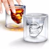 Diskon 150 Ml Transparan Tengkorak Kepala Ditembak Gelas Minum Ware Untuk Wiski Anggur Vodk Akhir Tahun