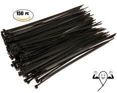 Toko 150 Pcs Plastik Nilon Releasable Bisa Ikat Kabel Zip Membungkus Pengikat Kawat Hitam 200X4Mm Lengkap Tiongkok