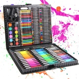 Beli 150 Pcs Set Anak Anak Menggambar Set Painting Art Set Pena Warna Air Crayon Pastel Minyak Paint Brush Drawing Tool Art Sch**l Intl Cicilan