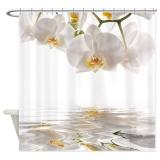 Spesifikasi 152X182 Cm Cantik Anggrek Putih Refleksi Air Bath Shower Curtain Tahan Air Intl Dan Harganya