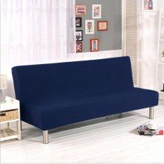 Toko Cover Sofa Universal Elastis 155 195Cm Tanpa Pegangan Tangan Model Sederhana Warna Biru Navy Bisa Dilipat Tidak Termasuk Bantal Yang Bisa Kredit