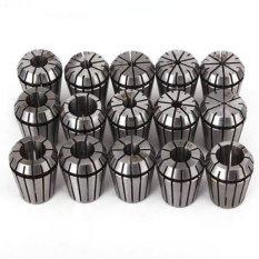 15 Pcs/set ER25 Spring Chuck untuk CNC Penggilingan Mesin Bubut (Hitam/Silver)