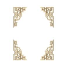 15x10 Cm Kayu Diukir Sudut Hiasan Bordiran Bingkai Pintu Menghias Pintu Dinding Hiasan Hias Mebel Kayu Miniatur- INTL