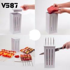 16 Lubang Daging Tusuk Sate Kebab Maker BBQ Kabob Maker Kabob Maker Box Mesin Beef Meat Maker dengan 32 Tusuk Sate Bambu -Intl