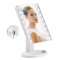 Spesifikasi 16 Led Makeup Mirror Dengan Usb Pengisian Dan Layar Sentuh Kosmetik Cermin Internasional Baru