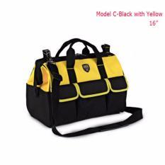 Spesifikasi 16 Weatherproof Electrician Tool Bag Heavy Duty Storage Single Bahu Kuning Intl Yang Bagus Dan Murah