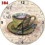Harga 164 Retro Jam Dinding Mdf Keren Motif Kafe Natural Asli