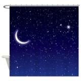 Harga 165X180 Cm Langit Malam Dengan Bulan Dan Bintang Kamar Mandi Shower Tirai Tahan Air Intl Terbaru