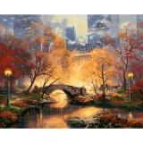 Beli 16X20 Diy Cat Dengan Nomor Kit Digital Lukisan Minyak Kanvas Beauty City Park New Intl Dengan Kartu Kredit