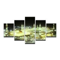 16x24inx2 16x32inx2 16x40inx1 HD Print Mekkah Islam Suci Lanskap Lukisan Minyak Arsitektur Religius Muslim Masjid Lukisan Dinding untuk Ruang Keluarga Cuadros (Tidak Ada frame) -Intl